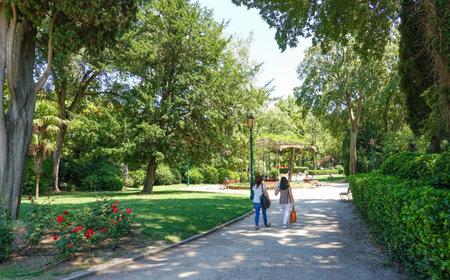 giardino: Il Giardino garden in Venice Editorial