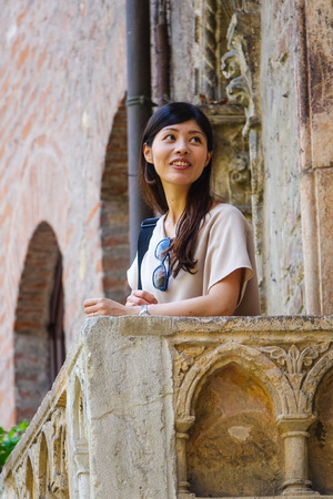 juliet: The famous balcony of Juliet in Verona from Romeo and Juliet