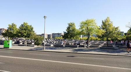murdered: Memorial to the Murdered Jews of Europe - Holocaust memorial Berlin - BERLIN  GERMANY - AUGUST 31, 2016
