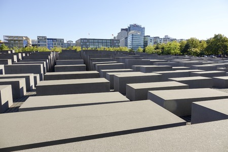 murdered: Mazelike Holocaust Memorial Berlin - Memorial to the murdered Jews of Europe - BERLIN  GERMANY - AUGUST  31, 2016