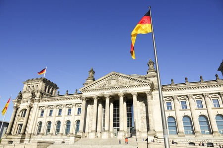 federal government: Federal Government Office - German Bundestag Reichtagsgebaeude in Berlin - BERLIN  GERMANY - AUGUST 31, 2016