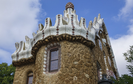 Fairy-style houses at Park Guell in Barcelona