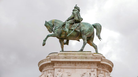 Statue at National Monument of Vittorio Emanuele in Rome