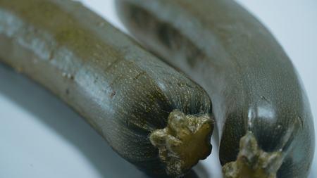 Close up shot of fresh Zucchini vegetables