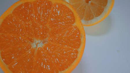 Oranges and Lemons - fresh fruits from the market Stock Photo