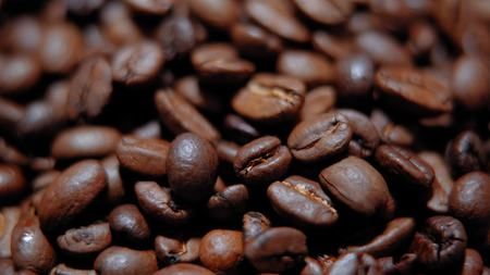 Fresh roasted coffee beans Stock Photo