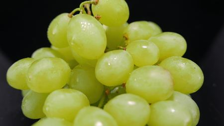 A bunch of grapes in a close up shot