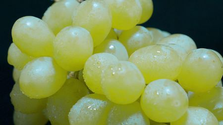 Extreme close up shot of fresh grapes from the market Stock Photo