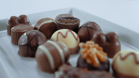 Tempting pralines - a sweet selection of chocolates