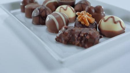 Pralines and chocolates - a variety of sweets