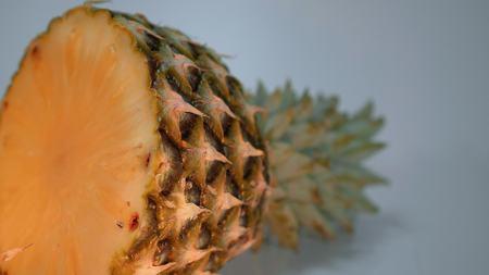 Amazing macro shot of a pineapple