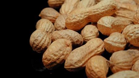 Roasted Peanuts - amazing macro shot