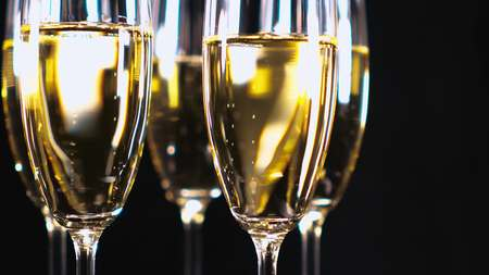 Glamourous Champagne - glasses with sparkling wine