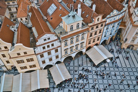 The beautiful mansions in the city Prague 版權商用圖片