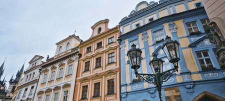 Beautiful mansions at Old Town Square in Prague