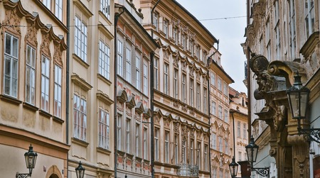 Beautiful pedestrian Zone in the historic district of Prague