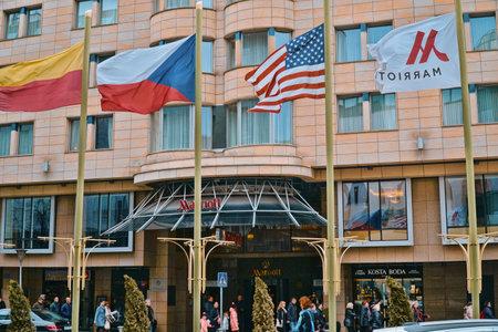 Marriott Hotel Prague in the city center - PRAGUE / CZECH REPUBLIC - MARCH 20, 2017
