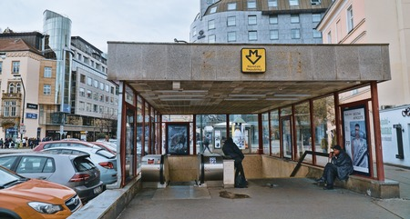 Subway station in Prague - PRAGUE  CZECH REPUBLIC - MARCH 20, 2017