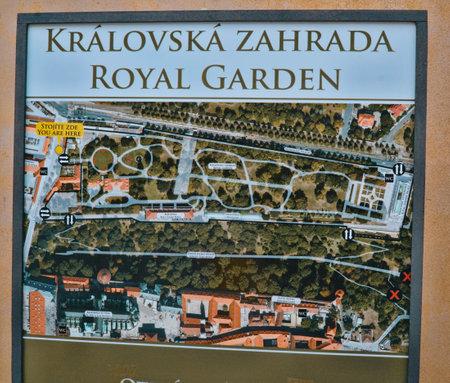 The Royal gardens at Prague Castle - PRAGUE / CZECH REPUBLIC - MARCH 20, 2017