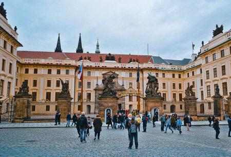 Prague Castle - Impressive view - PRAGUE / CZECH REPUBLIC - MARCH 20, 2017 新聞圖片