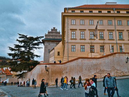 National Gallery Palace in Prague - PRAGUE / CZECH REPUBLIC - MARCH 20, 2017