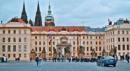 Wonderful Prague Castle - a must see for visitors - PRAGUE / CZECH REPUBLIC - MARCH 20, 2017