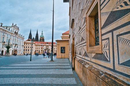 Schwarzenberg Museum in Prague located nearby Prague Castle - PRAGUE / CZECH REPUBLIC - MARCH 20, 2017 新聞圖片