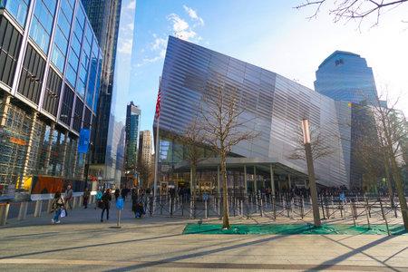 National September 11 Memorial and Museum at Ground Zero Manhattan- MANHATTAN  NEW YORK - APRIL 1, 2017