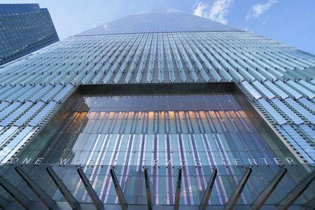 Impressive One World Trade Center at Ground Zero- MANHATTAN / NEW YORK - APRIL 1, 2017