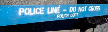 Police Line - Do not Cross- MANHATTAN  NEW YORK - APRIL 1, 2017 Editorial