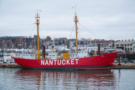 Nantucket Vessel at Boston Harbor - BOSTON , MASSACHUSETTS - APRIL 3, 2017 Editorial