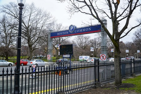 Boston Common Parking Lot - BOSTON , MASSACHUSETTS - APRIL 3, 2017 Editorial