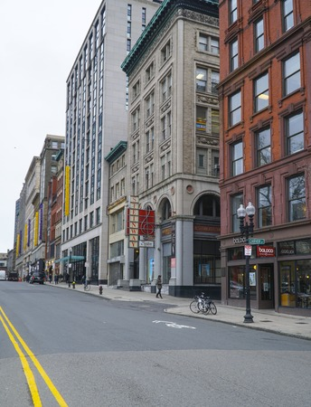 Street view at Boston Common - BOSTON , MASSACHUSETTS - APRIL 3, 2017 Editorial