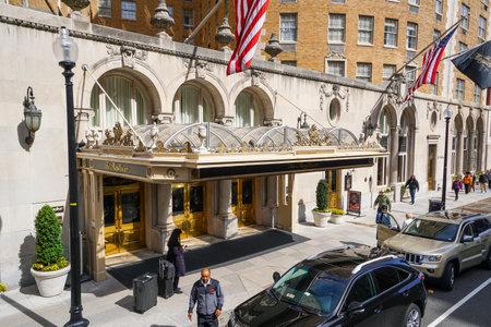 Famous Mayflower Hotel in Washington - WASHINGTON DC - COLUMBIA Editorial