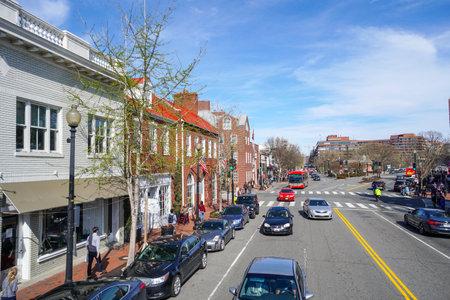 Vista della via a Georgetown Washington - WASHINGTON DC - COLUMBIA - 7 aprile 2017 Archivio Fotografico - 78216774
