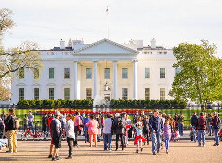 Più famoso indirizzo negli Stati Uniti - la Casa Bianca - Washington DC - Columbia - 22 aprile 2017 Archivio Fotografico - 78216900