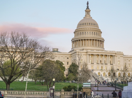 US Capitol - one of the most famous buildings in the city of Washington - WASHINGTON DC - COLUMBIA - APRIL 7, 2017 Editorial