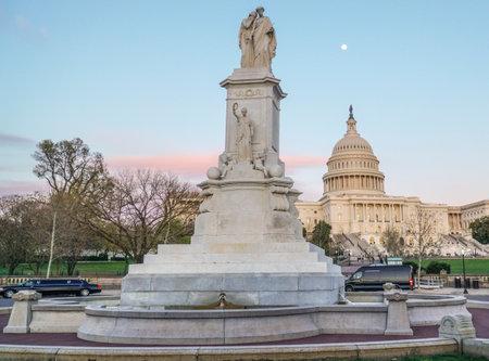 The famous US Capitol in Washington DC - WASHINGTON DC - COLUMBIA - APRIL 7, 2017 Editorial
