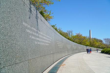 Washington DC sightseeing - The Martin Luther King Memorial - WASHINGTON DC - COLUMBIA - APRIL 7, 2017