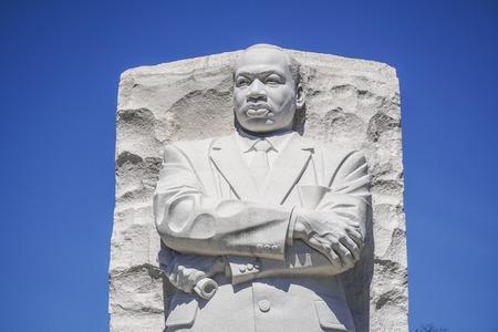 Close up shot of the Martin Luther King Memorial in Washington DC - WASHINGTON DC - COLUMBIA - APRIL 7, 2017