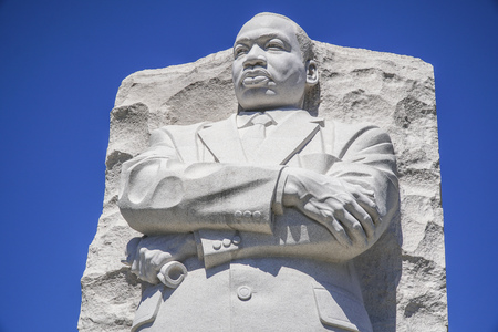 Close up shot of the Martin Luther King Memorial in Washington DC - WASHINGTON DC - COLUMBIA - APRIL 7, 2017