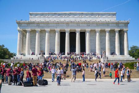 Main tourist attraction in Washington - The Lincoln Memorial - WASHINGTON DC - COLUMBIA - APRIL 7, 2017 Editorial