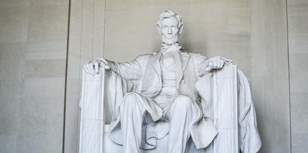 The statue of Abraham Lincoln at Lincoln Memorial in Washington - WASHINGTON DC - COLUMBIA - APRIL 7, 2017