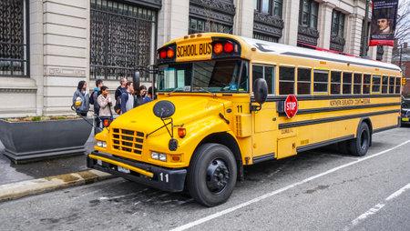 School Bus in the city of Philadelphia - PHILADELPHIA - PENNSYLVANIA - APRIL 6, 2017
