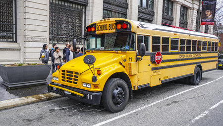 School Bus in the city of Philadelphia - PHILADELPHIA - PENNSYLVANIA - APRIL 6, 2017