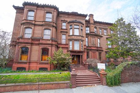 the sixth sense: Beautiful mansion in Philadelphia - known from the movie The Sixth Sense - PHILADELPHIA - PENNSYLVANIA - APRIL 6, 2017