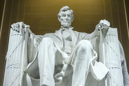 Il Lincoln Memorial a Washington DC Archivio Fotografico - 78814262