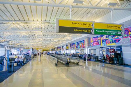 Concourse at Dallas Fort Worth Airport DALLAS - TEXAS - APRIL 10, 2017
