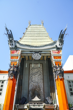 Graumans TCL Chinese Theater at Hollywood Blvd in Los Angeles - LOS ANGELES - CALIFORNIA - APRIL 20, 2017 Editorial