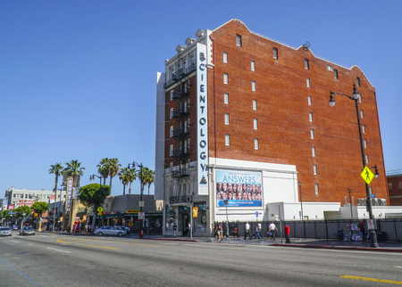 Scientology Building at Hollywood Boulevard in Los Angeles - LOS ANGELES - CALIFORNIA - APRIL 20, 2017